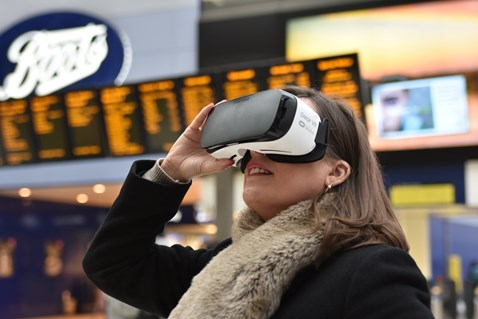 Passengers were given the opportunity to experience the new station at Waterloo in Virtual Reality last August