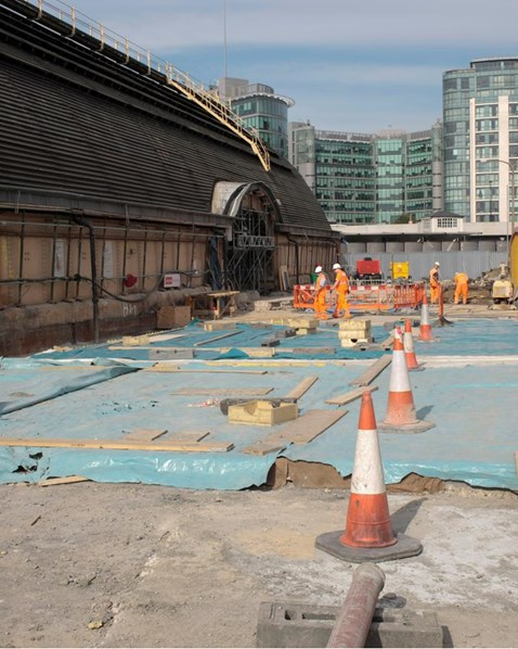 Parcel deck resurfacing, Paddington