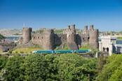 Conwy Castle with Arriva train