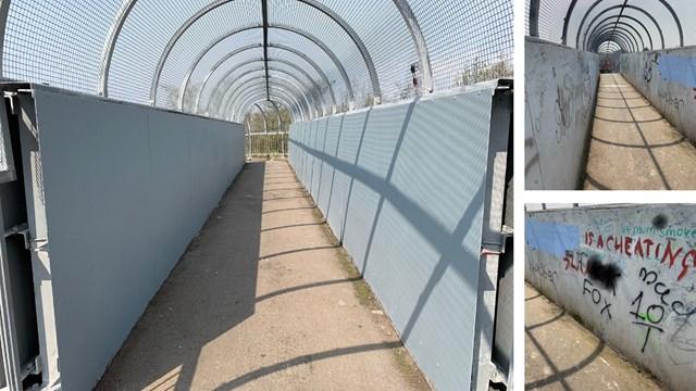 Widnes railway bridge clean up composite