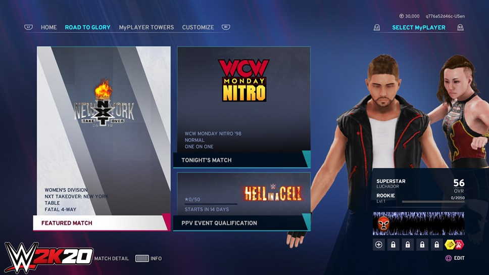 Online Lobbies and Updates to Daily Challenges Announced for WWE 2K20: WWE2K20 Featured Match