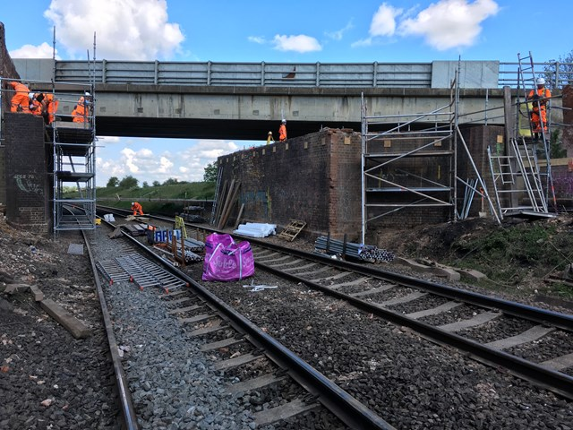 Major milestones reached in reconstruction of two Northamptonshire road bridges and upgrade to Kettering station begins 5
