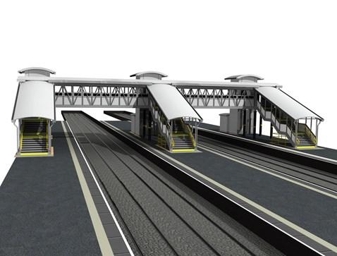 Hooton station lift shafts and overbridge_1