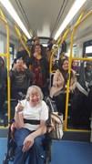 Burton Street Foundation 2: Members of the Burton Street Foundation enjoy a 'Try a Tram' Day at Meadowhall Interchange