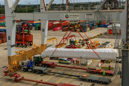 Class 805 aerial unload dock shot