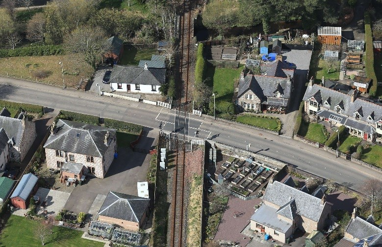 Upgraded Dingwall level crossings approach completion: Dinwall No 1