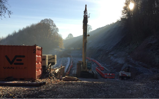 Iconic Settle-Carlisle railway line on schedule to re-open in March 2017: Work ongoing at Eden Brows, December 2016