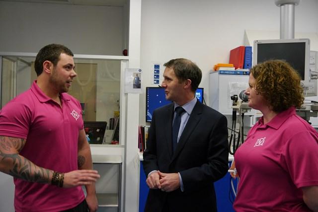 Navigator visit at Royal Infirmary of Edinburgh: Left to right: Tam Begbie, Michael Matheson and Geraldine Lennon