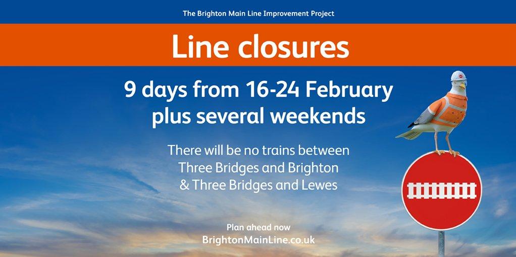 Passengers prepare for major rail closure throughout school half term: BML Works 1