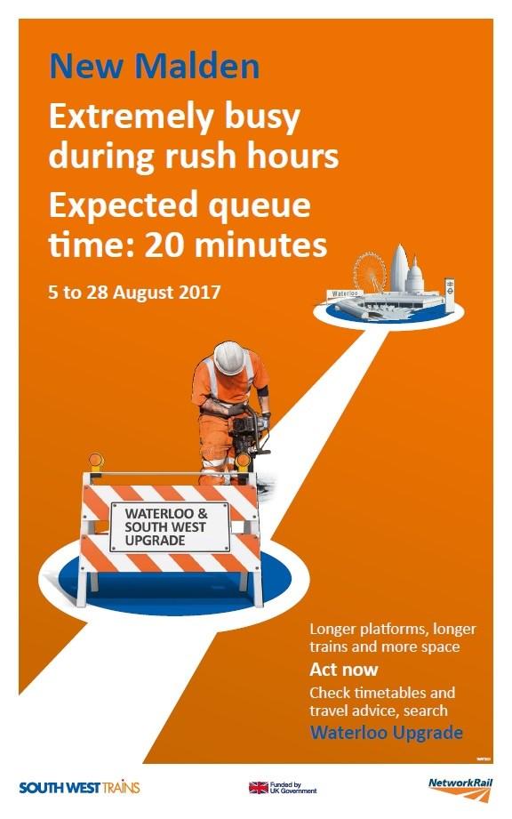 Waiting times at New Malden