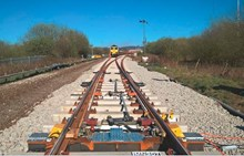 New track installed at Ashton Moss north junction - April 2018