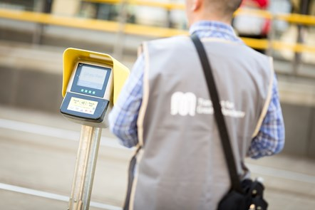 Contactless Metrolink - TfGM employee and smart reader