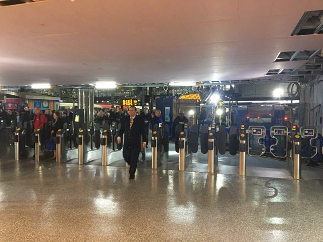 New ticket gates at Leeds station