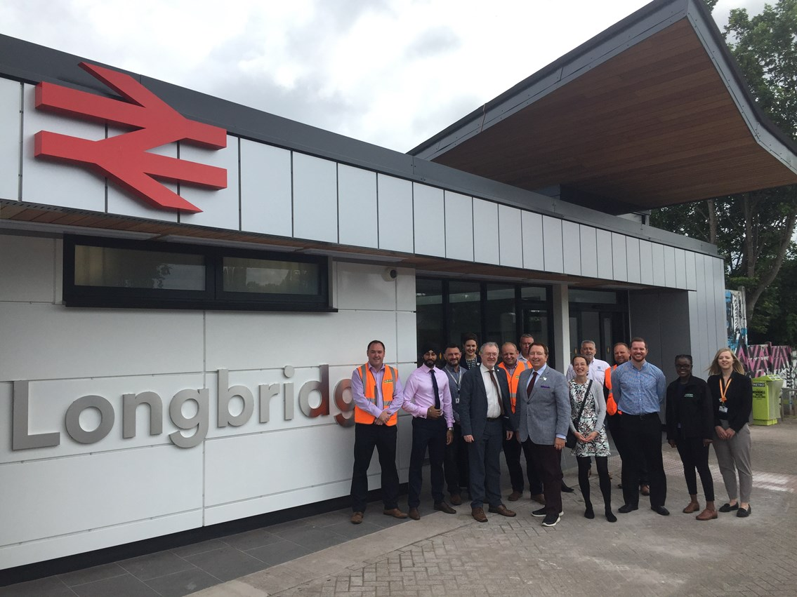 Official ceremony at the newly revamped Longbridge station