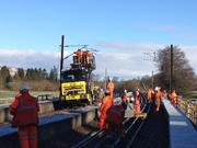 Lamington Viaduct track prep works