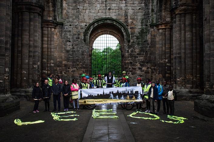 Leeds pupils take part in 200 mile Yorkshire cycle relay: kirkstallabbeyimage2-502490.jpg