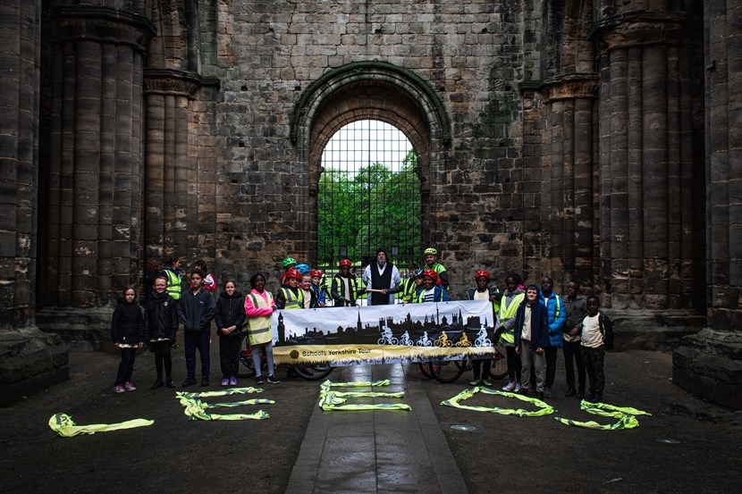 Leeds pupils take part in 200 mile Yorkshire cycle relay: kirkstallabbeyimage2-502490.jpg