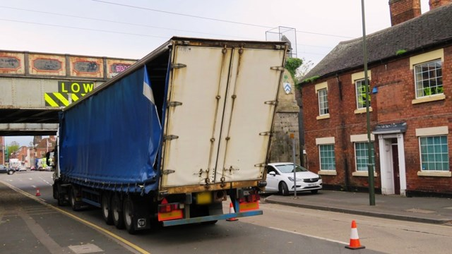 Lorry drivers urged to follow correct A5 diversions to avoid Britain's most bashed railway bridge: St John Street Lichfield 11 10 17 16x9