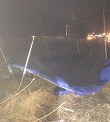 second trampoline blown on to the railway at Aylesbury