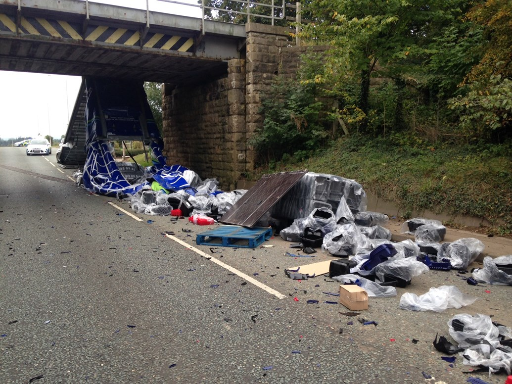 New campaign urges drivers in the East Midlands to be vigilant following bridge bashes: New campaign urges drivers in the East Midlands to be vigilant following bridge bashes 2