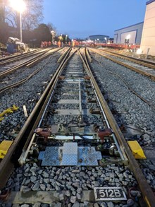 Southampton engineering works - finishing touches: Network Rail put the finishing touches to £8 million upgrade work at Northam Junction in Southampton
