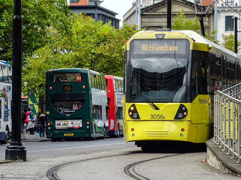 Corporate Communications at Transport for Greater Manchester: Tram bus
