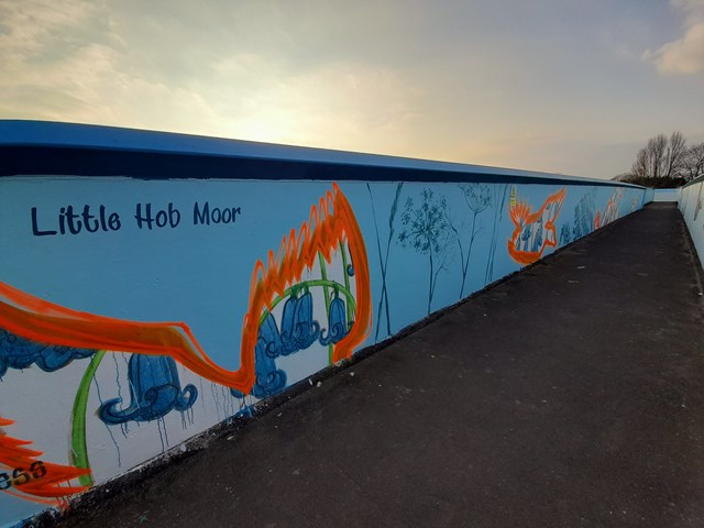 Little Hob Moor design on Love Lane bridge, Photo credit Emma Garness