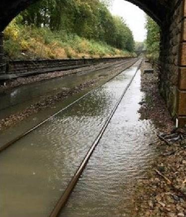 Flooding near Harrogate