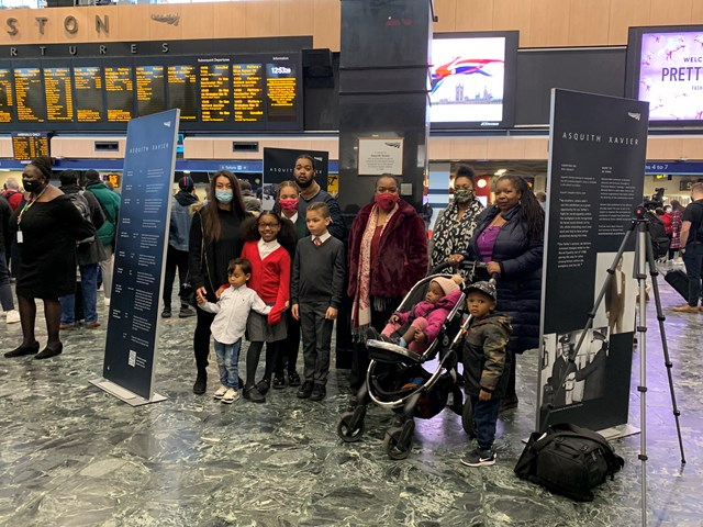Xavier family at London Euston's Asquith Xavier exhibition