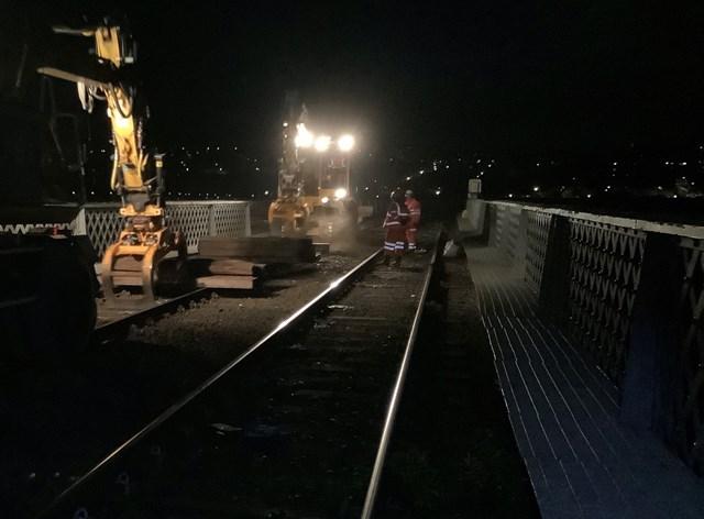 Iconic Tay Bridge is having sleepers renewed: Tay Bridge 6-2
