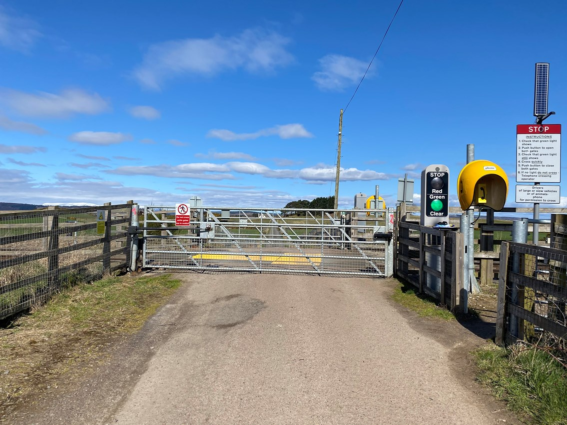 Day of action to improve safety at Lower Cullernie Level Crossing: Lower Cullernie Pic
