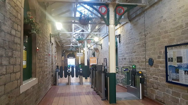 Glossop station interior