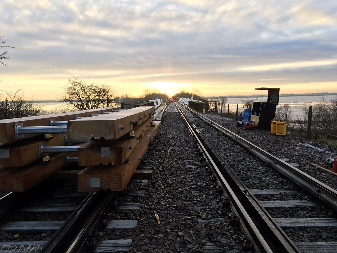 Rail passengers thanked as vital upgrades are completed between Ely and Peterborough over Christmas: Manea bridge timber renewals