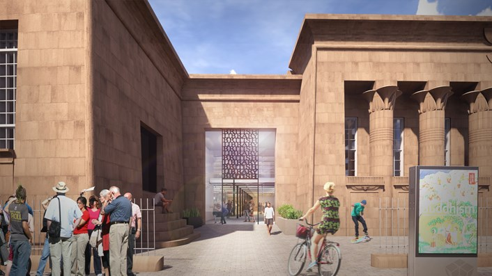 Major step closer to British Library site at Temple Works in Leeds: 2011 TWPC 200130 Entrance view