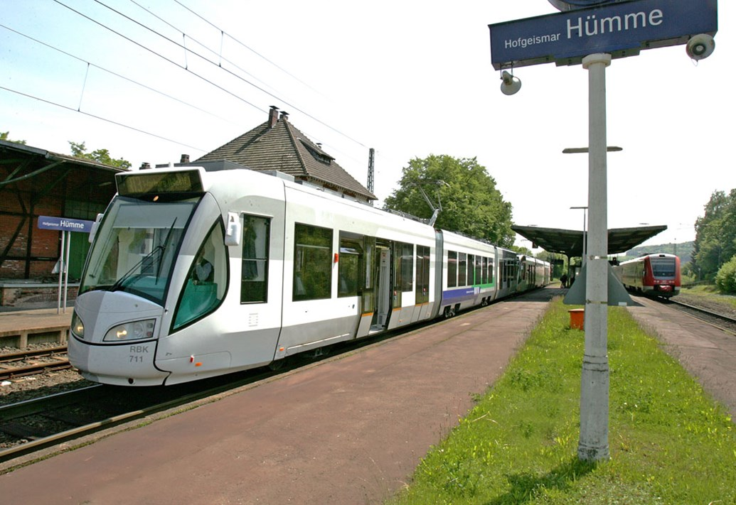 INNOVATIVE 'TRAM-TRAINS' TO BE TRIALLED IN YORKSHIRE: Example of a tram train