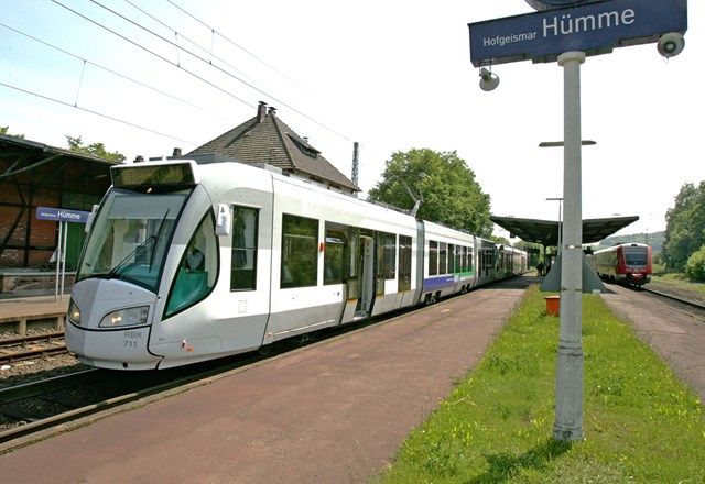 Example of a tram train: From Regio Citadis Kassel