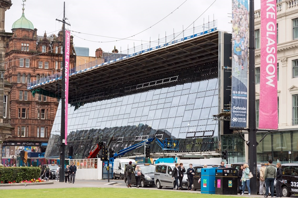 Two years of transformation at Queen Street: Glasgow Queen Street glazing 1