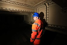 Bermondsey the remains of Southwark Park station: Greg Thornett, Project Manager, looks at the remains of Southwark Park station, hidden in the catacombs under the railway in Bermondsey
