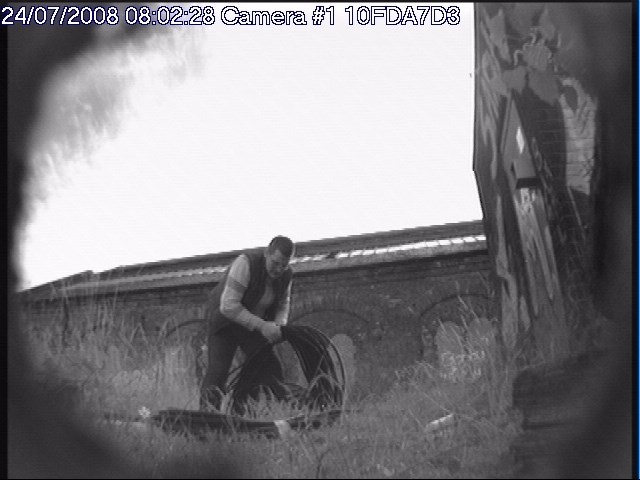 NO RAIL ESCAPE FOR CABLE THIEVES: Caught on camera at Bishop Aukland_001
