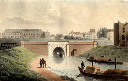 Regent's Canal, by Shepherd, 1822. Credit: Islington Local History Centre