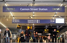 Cannon St station stock photo-2
