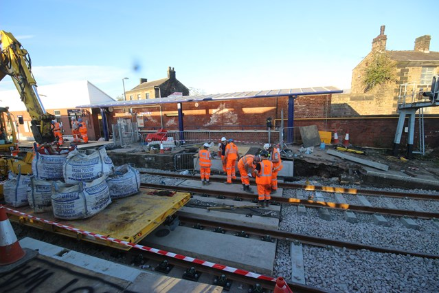 Railway passengers and neighbours thanked as work at Chorley station work completed on time: Work ongoing to replace the subway at Chorley station