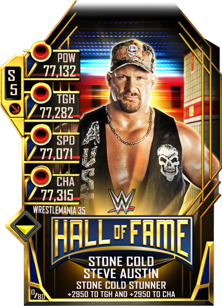 WWESC S5 WM35 HOF StoneCold