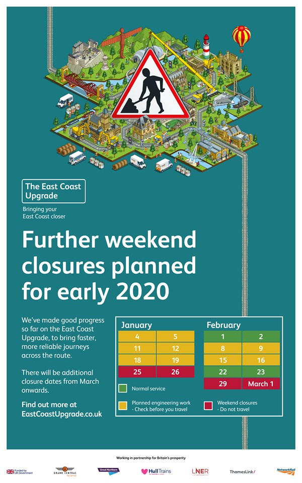 Dates announced for next major stages of East Coast Upgrade and passengers urged to plan ahead: Dates announced for next major stages of East Coast Upgrade and passengers urged to plan ahead 3