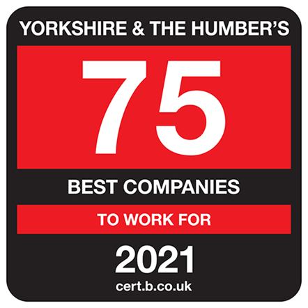 Yorkshire & Humber's 75 Best Companies to Work For 2021
