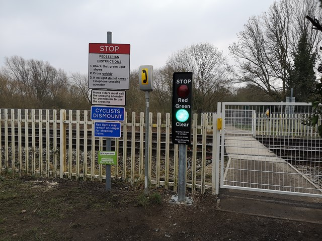 Safety improvements to Nottinghamshire level crossing completed: Safety improvements to Nottinghamshire level crossing completed