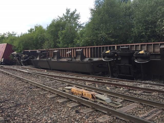 Coleshill derailed freight train 2