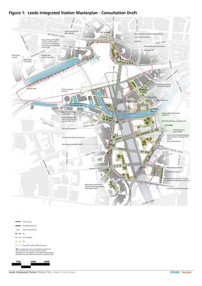 Senior councillors to discuss ambitious Leeds Station remodelling blueprint: leedsstationoverviewmap.jpg