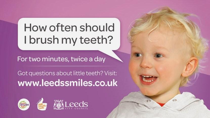 Ee by gums! - New campaign targets oral health for Leeds children: leedssmilesbigscreenstill1.jpg