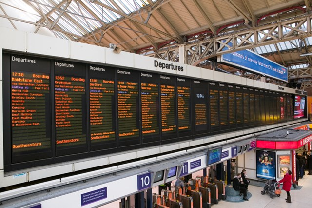 CLEARER VISION AT LONDON WATERLOO: Existing screens in operation at Victoria station